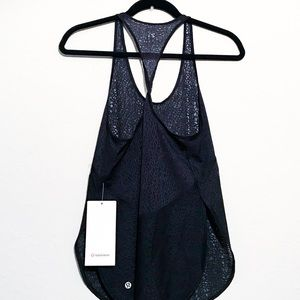 Lululemon Twist & Train Tank Mesh Black Top